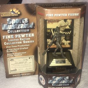 Vintage 1997 KEN GRIFFEY JR Pewter Statue With COA NEW Sports Illustrated Collection for Sale in Bridgeport, CT