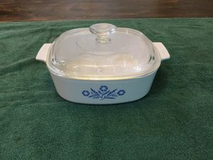 Vintage Corning Ware Blue Cornflower A-2-B Dish with Pyrex A-9-C for Sale in Chandler, AZ