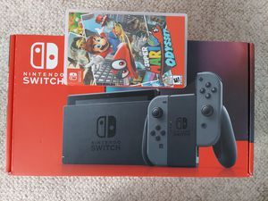 BRAND NEW Nintendo Switch newest version Gray Joy-Cons System w/ Super Mario Odyssey for Sale in Denver, CO
