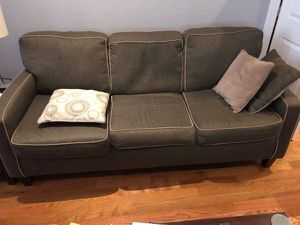 Matching Loveseat and sofa Good condition Includes pillows Pickup only for Sale in Rockville, MD