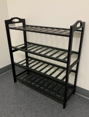 New in box 27x11x30 inches tall 4 tier bamboo shoe storage rack organizer stand for Sale in Whittier, CA