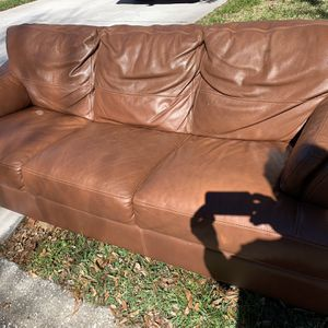 Free Leather Couch for Sale in Clearwater, FL