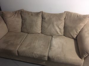 Beige couch 7 feet for Sale in Philadelphia, PA