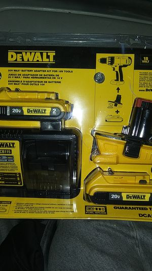 Dewalt 2 pack of batteries complete with 12v/20v charger and battery adapter.plus I can throw in a extra brand new 12v battery for Sale in Des Moines, WA