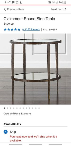 End tables silver 2 available for Sale in Oakland, CA