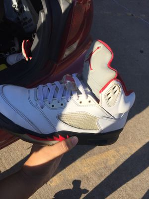 Fire red air Jordan's 5 Size 8 for Sale in Austin, TX