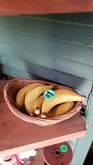 Basket with wooden bananas for Sale in Farmville, VA