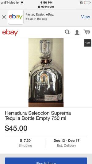 Antique Herradura Seleccion Suprema Tequila Bottle Empty 750 ml for Sale in Salt Lake City, UT