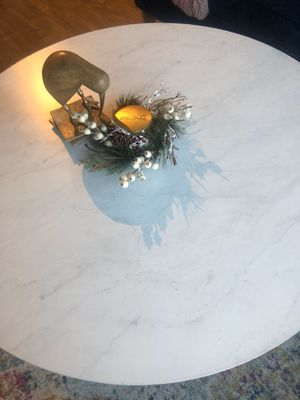 Gold Marble coffee table with X-base for Sale in Seattle, WA
