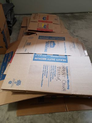 FREE Moving Boxes Most Medium Small Double Walled for Sale in Beaverton, OR