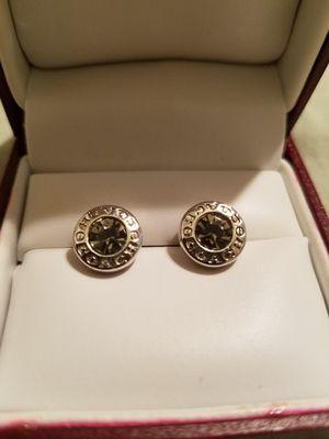 COACH silver stud diamond round earrings for Sale in Bakersfield, CA