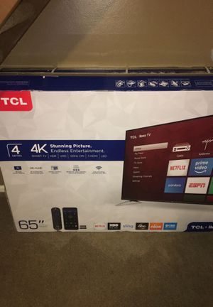 "TCL 65"" 4series 4K HDR Roku smart tv for Sale in Indianapolis, IN"