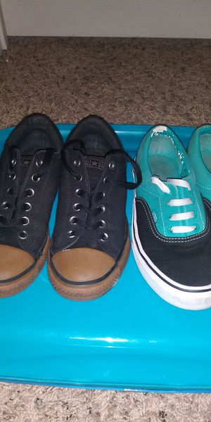 Vans and Converse low top shoes for kids for Sale in Baytown, TX
