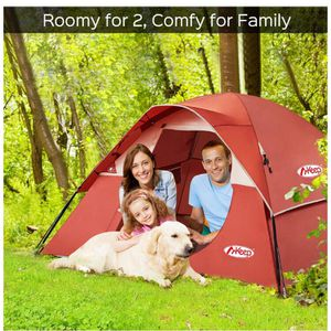 3 Person Tent - Easy & Quick Setup Tent for Camping, Professional Waterproof & Windproof Fabric for Sale in Hacienda Heights, CA