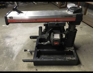 Black and red craftsman table saw for Sale in Cresskill, NJ