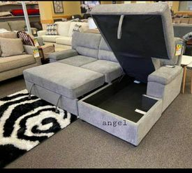 🎁BRAND NEW 🎇Yantis Gray Sleeper Sectional with Storage for Sale in Laurel,  MD