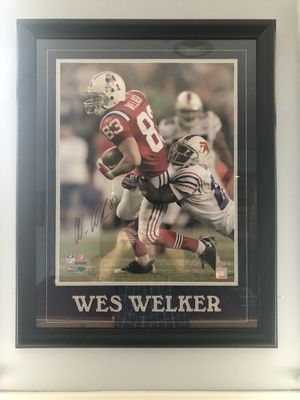 Wes Welker autograph for Sale in Sudbury, MA