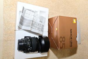Nikon 85 mm 1.4D for Sale in Covina, CA