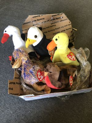 Original Beanie Babies. Stilts, Baldy, Quackers, Dinky, and Early for Sale in Hialeah, FL