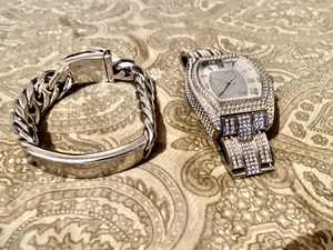 Silver watch and bracelet for $40 for Sale in The Bronx, NY