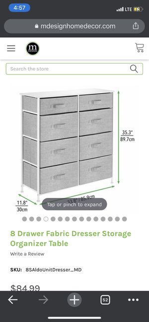 8 drawer organizer table for Sale in Brooklyn, NY