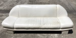 white real leather couch - read first ! for Sale in Shenandoah, TX