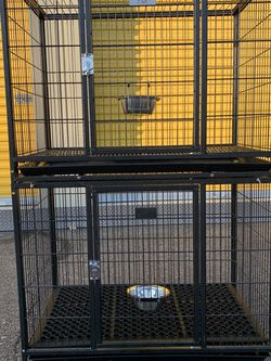 Brand New Stacked HD Dog Kennel Cage In factory sealed box🇺🇸 See Single Cage Dimensions In Second Picture🐕🐶🐰🐾 Soft rubber mat included !!! 🙊🙀 for Sale in Sun City West,  AZ