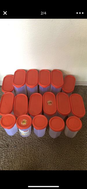 Storage food containers almost new for 45$ only for Sale in Bellevue, WA
