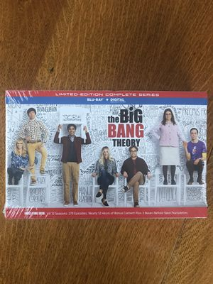 The Big Bang theory complete collection in Blu-ray Disney Marvel DC Harry Potter the Star Wars movies 3D Bluray and dvd collectors for Sale in Everett, WA