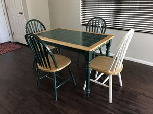 Wooden Dining table with 4 Chairs for Sale in Littleton, CO