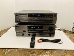 Sony 250 Watt Surround Sound Stereo Receiver With Integrated Stereo Amplifier & Sony 5 Disc Carousel CD Changer Player Bundle Home Audio Home Theatre for Sale in Spring Hill, FL