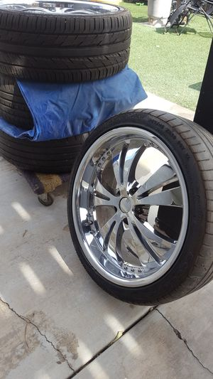 """20"""" Incubus rims and tires for Sale in DEVORE HGHTS, CA"""