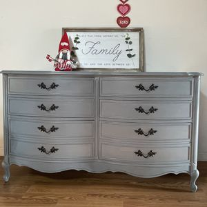 Newly Refinished Dixie Dresser, Nightstand and Mirror French Provincial Style for Sale in Spanaway, WA