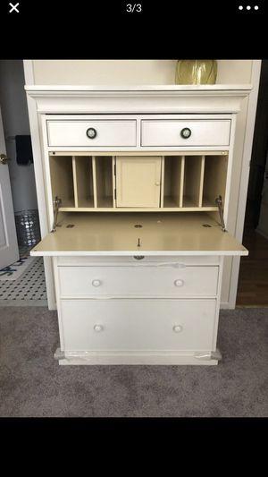 Pottery Barn Secretary Desk / Dresser, white for Sale in Ridgewood, NJ