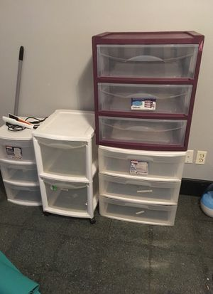 Plastic storage drawers for Sale in Fort Worth, TX