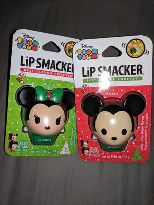 Disney tsum tsum lipsmackers - mickey and Minnie Christmas for Sale in Marietta, GA