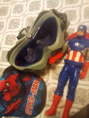 Captain America marvel set little boys $5 bonus Spiderman hat for Sale in Surprise, AZ