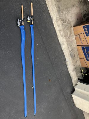 Needs to go!! Two used fresh water fishing poles with lines and reels!! for Sale in Los Angeles, CA
