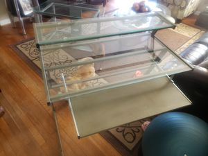 Metal and glass computer desk for Sale in Hampton, VA