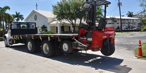 Flatbed 24' long with piggyback Forklift delivery. for Sale in Miami, FL