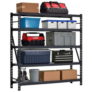 Husky View the Collection 90 in. W x 90 in. H x 24 in. D 5-Shelf Welded Steel Garage Storage Shelving Unit with Wire Deck in Black (0) for Sale in North Las Vegas, NV