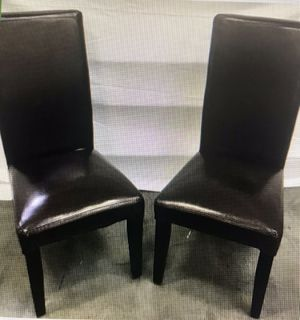 Pair of Brown Elegant Fourier Chairs for Sale in Henderson, NV