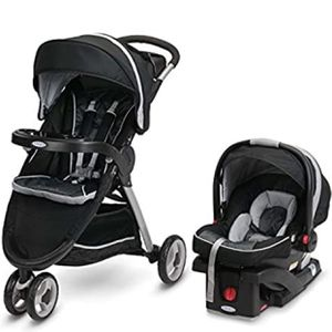 Graco FastAction Fold Travel System, the FastAction Fold Sport 3-Wheel Stroller & Snugride 35 car seat( Rainbow & Cactus ) for Sale in Las Vegas, NV