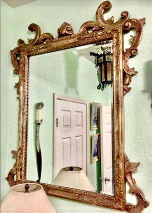Large Heavy Antique Ornate Framed Mirror for Sale in Westchase, FL