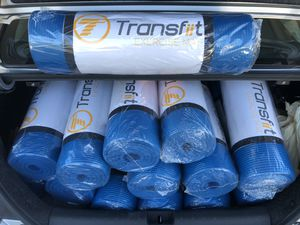 """High Quality Extra Thick (10mm) Exercise Mats (72x24"""") and Premium Resistance Bands - Gym Equipment for Sale in Montclair, CA"""