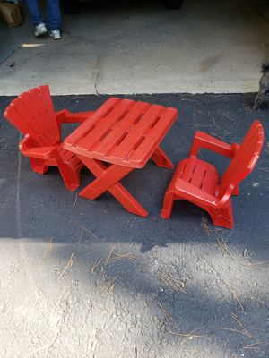 Kids plastic table and chairs for Sale in Alden, NY