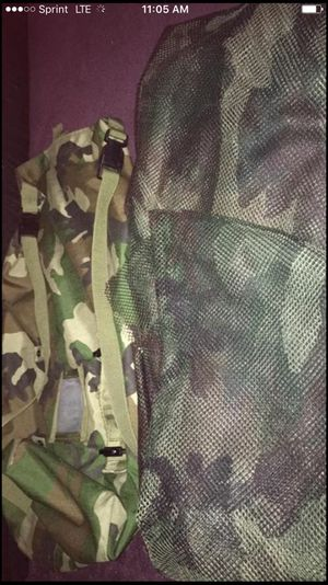 Military duffel bag 2 feet with 2 nets for Sale in St. Louis, MO