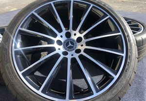 4 Genuine Mercedes-Benz S550 AMG 20 inch Wheel and Tire Package 100% Mercedes Parts Factory-spec Pirelli Run Flat Tires for Sale in Opa-locka, FL