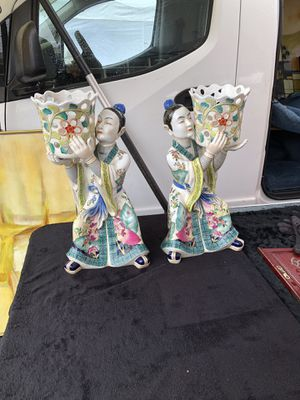Vintage Chinese statue planter holders for Sale in Redondo Beach, CA