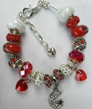 Red and white charm bracelet 1 for $15 or 2 for $25 for Sale in Baltimore, MD